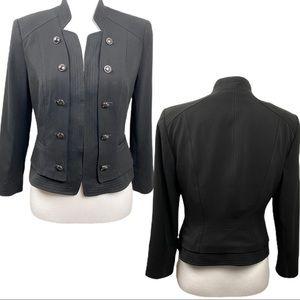 White House Black Market Black Military Jacket